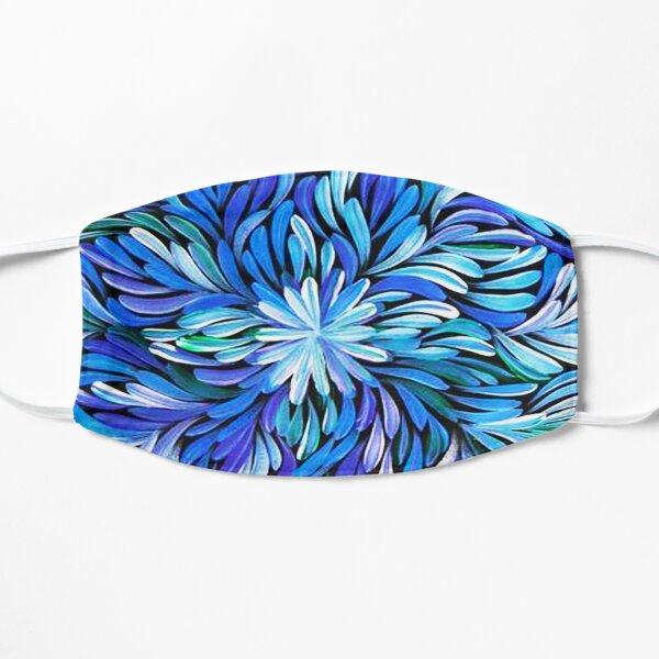 Australian Aboriginal Art - Purple Flowers Flat Mask