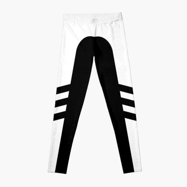 White Black Two Stripe (Side Stripe Leggings) Leggings