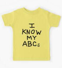 I Know My ABCs Kids Tee