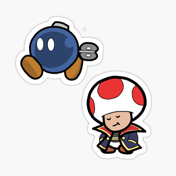 Bobby The Bobomb and Captain T. Ode Sticker