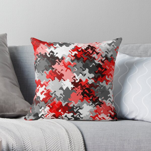 Red White Grey Black Abstract (6 of 6 please see notes)  Throw Pillow