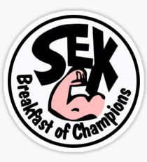 Coloured Breakfast of Champions Sticker