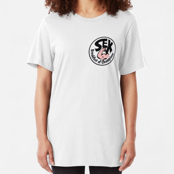 Coloured Brunch of Champions Slim Fit T-Shirt