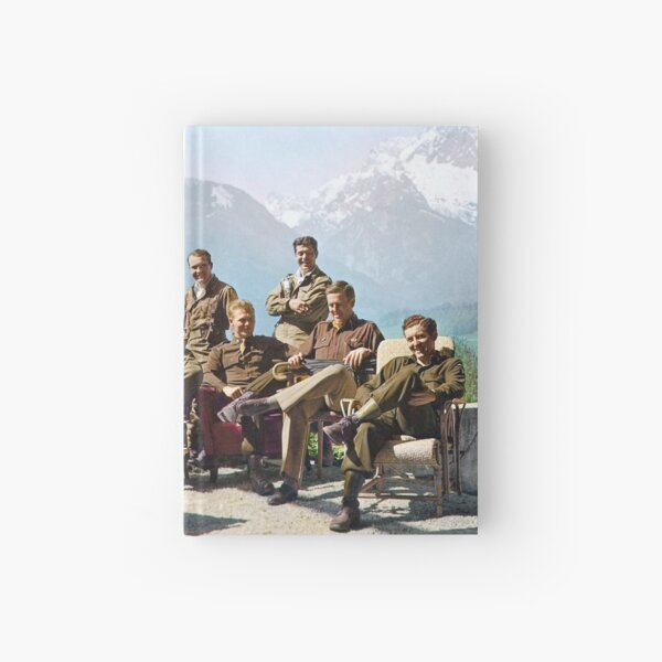 Dick Winters and his Easy Company (HBO's Band of Brothers) lounging at Eagle's Nest, Hitler's former residence in the Bavarian Alps, 1945.  Hardcover Journal