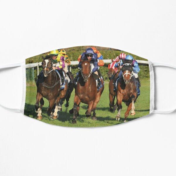 Horse racing action 10 Flat Mask