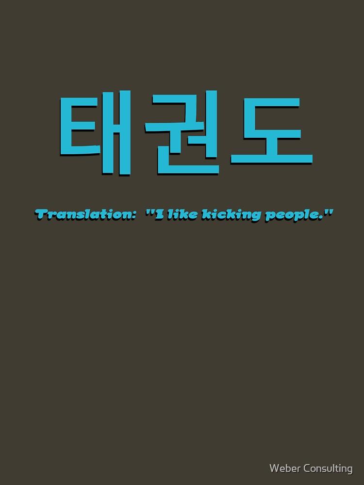 Tae Kwon Do - I like kicking people by HalfNote5