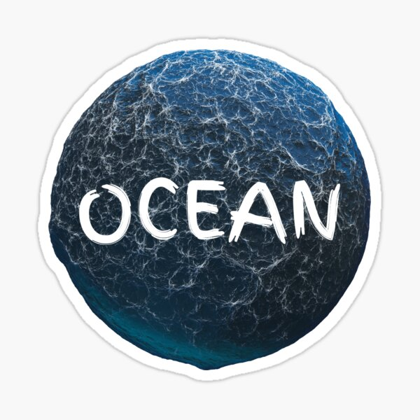 Ocean World and waves with Text Sticker