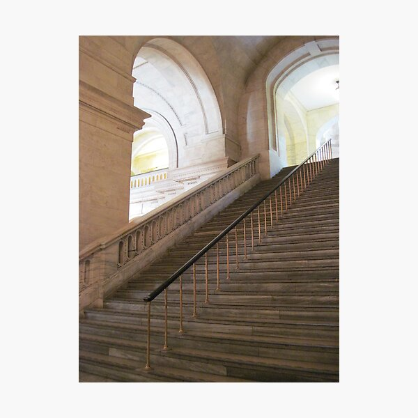 The Staircase Series:  New York Public Library. Photographic Print