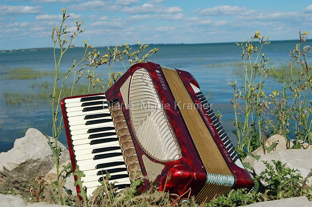 Red Accordion by Diane  Marie Kramer