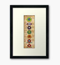 Elements of Chakras Framed Print