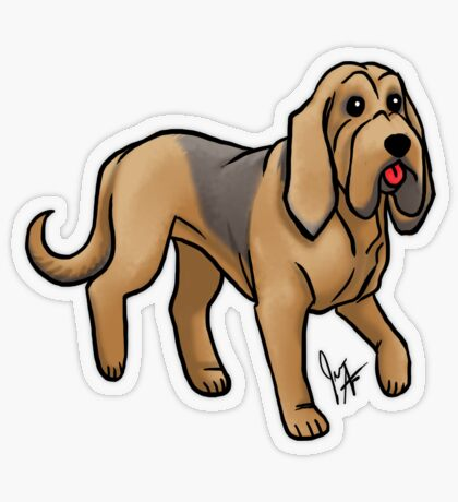 Bloodhound Transparent Sticker
