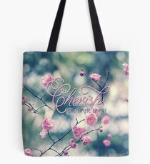 Cherish the Simple Things Pink Plum Blossoms Tote Bag