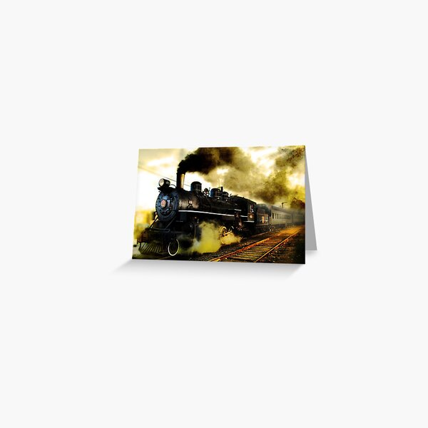 Old Steam Greeting Card