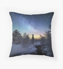 Starry Winter Night Throw Pillow