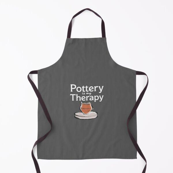 Pottery Funny - Pottery Is My Therapy Apron