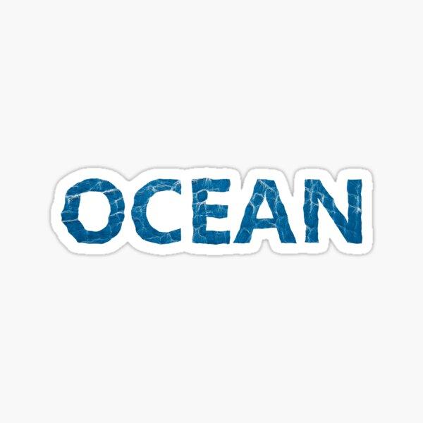 Ocean text made out of ocean waves Sticker