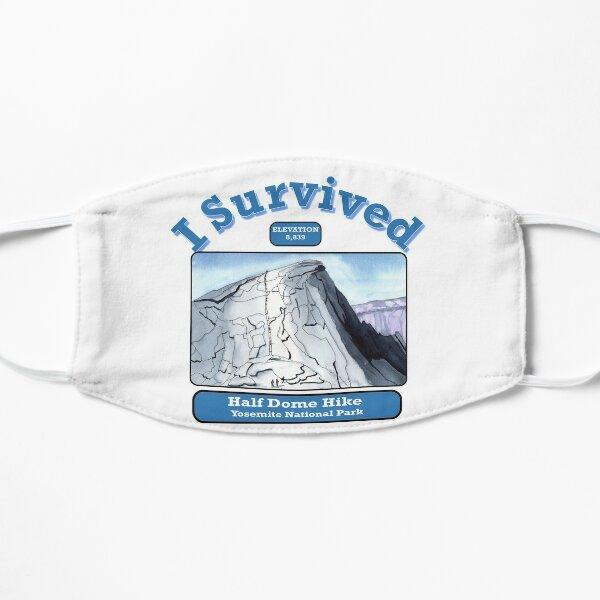 I Survived Half Dome Hike Flat Mask