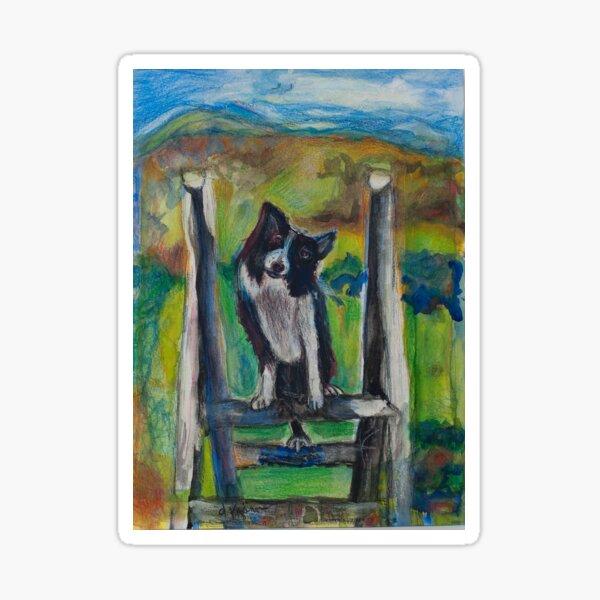 "A dog named ""Indy"" Sticker"