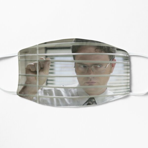 Dwight Schrute Looking Through the window - The Office Flat Mask