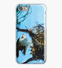Osprey On Nest Abstract Impressionism iPhone Case/Skin