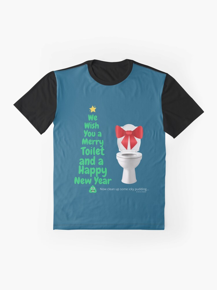 Alternate view of Merry Toilet Fun Cleaning Humor, Women's Gag Gifts Graphic T-Shirt