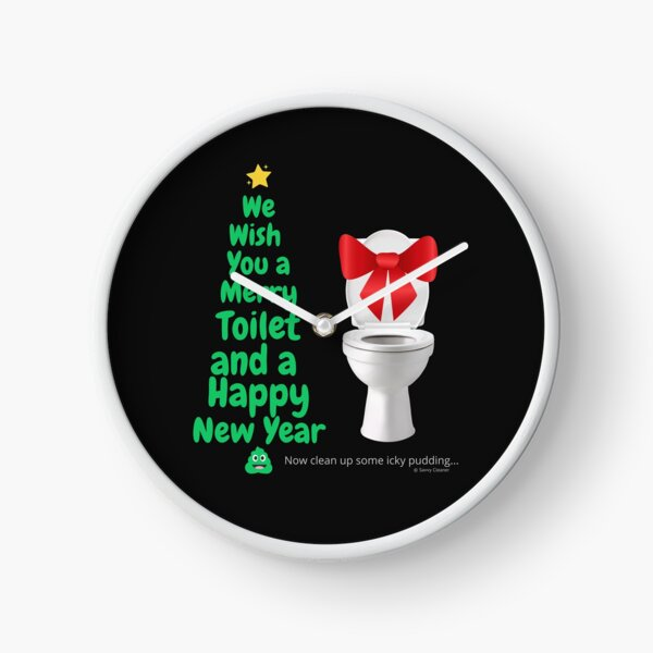 Merry Toilet Fun Cleaning Humor, Women's Gag Gifts Clock