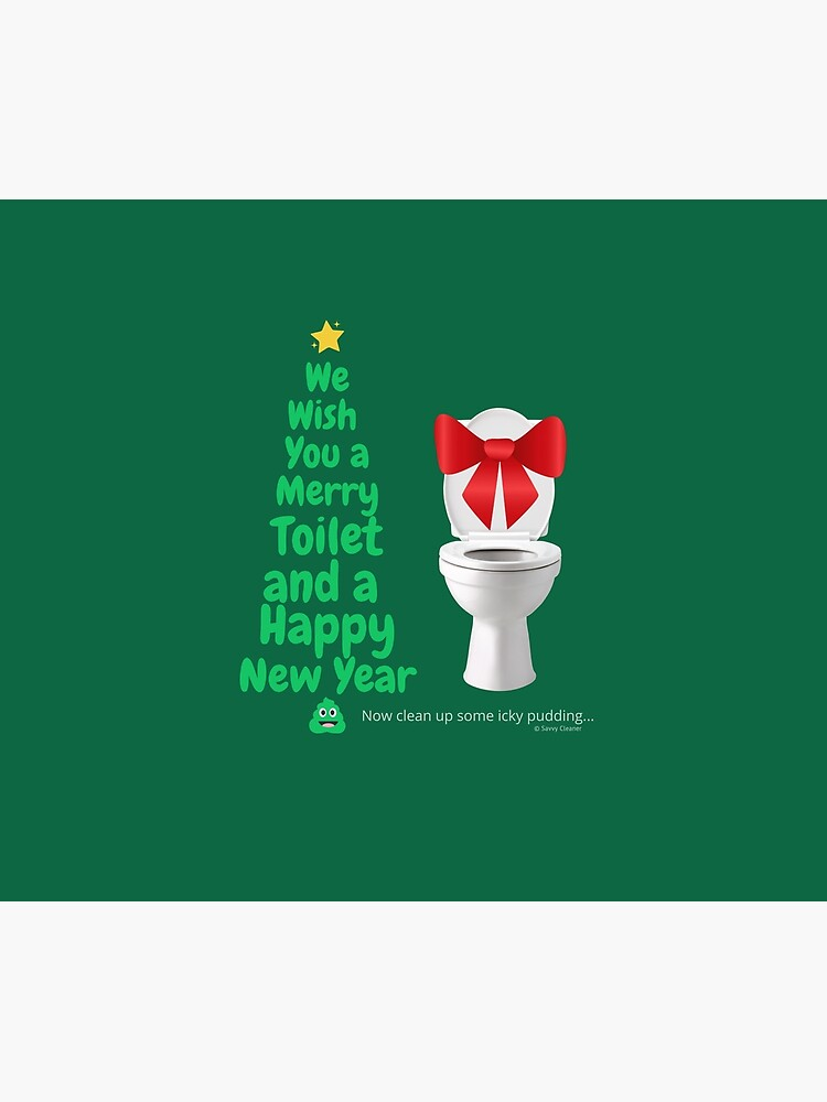 Merry Toilet Fun Cleaning Humor, Women's Gag Gifts by SavvyCleaner