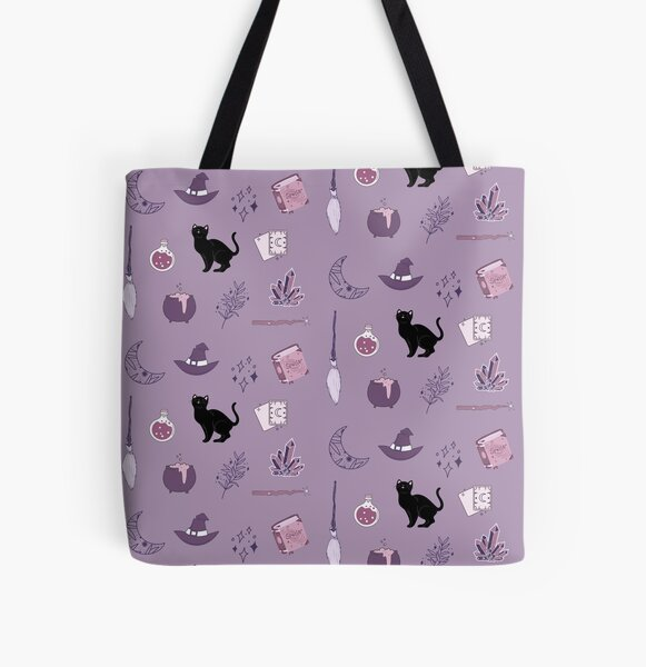 Purple Witch Pack All Over Print Tote Bag