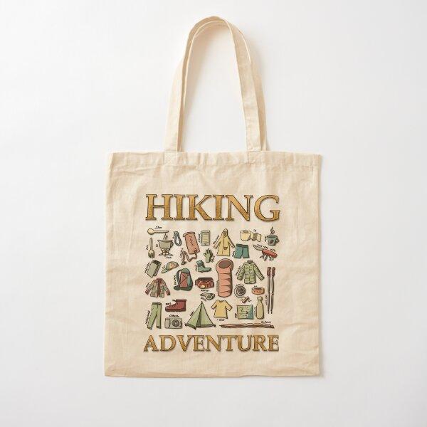 Hiking Adventure Cotton Tote Bag