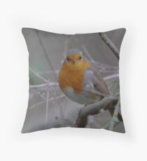 Robin for Christmas Throw Pillow
