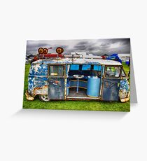 The 'BENCH Jeans' Vw Split Screen custom Van Greeting Card