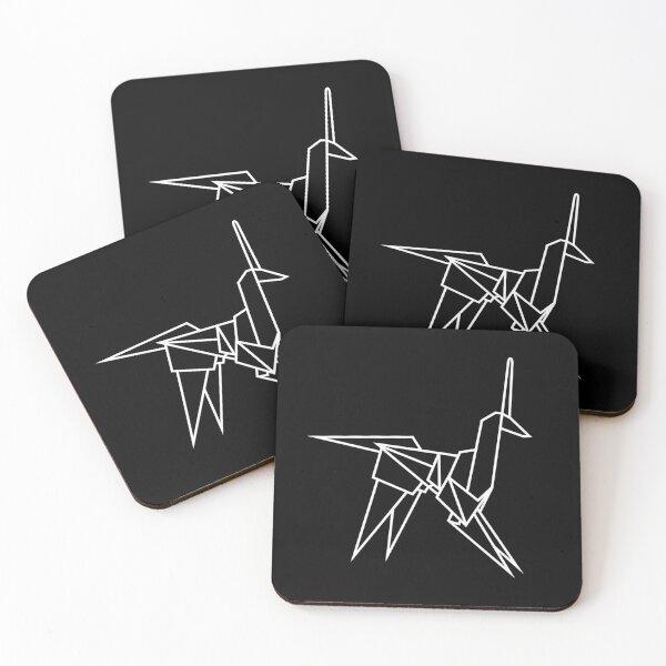 Blade Runner Origami Unicorn White Coasters (Set of 4)