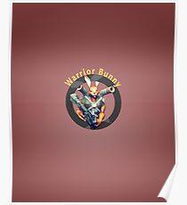 Warrior Bunny Nukem Poster