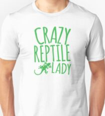 CRAZY REPTILE LADY Slim Fit T-Shirt