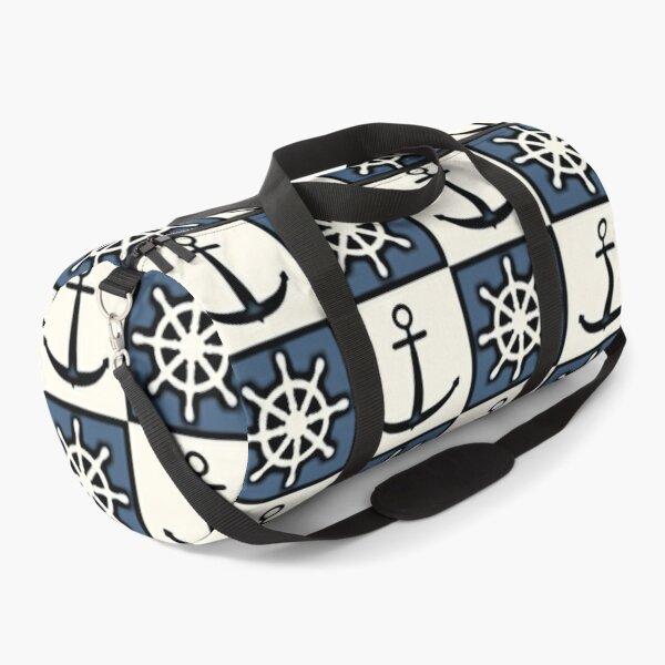 Nautical Ship Maritime Print Duffle Bag