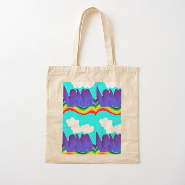 Love and a rainbow Cotton Tote Bag
