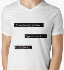 "Fight Club ""I am Jack's Colon. I get cancer. I kill Jack."" shirt.  Men's V-Neck T-Shirt"