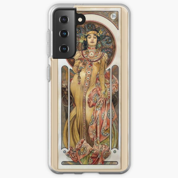 Alphonse Mucha - Elegant Woman Samsung Galaxy Soft Case