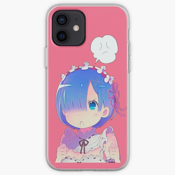 Cute anime girl Rem from Re:Zero series. Cute maid Rem from Re:Zero - starting life in another world. | Colors. iPhone Soft Case