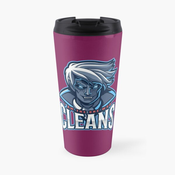 The One Who Cleans, Zombie, Vampire, Cleaning Humor Travel Mug