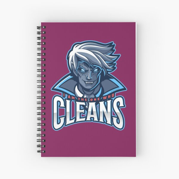 The One Who Cleans, Zombie, Vampire, Cleaning Humor Spiral Notebook