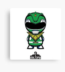 Green Power Ranger Canvas Print