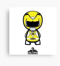 Yellow Power Ranger Canvas Print