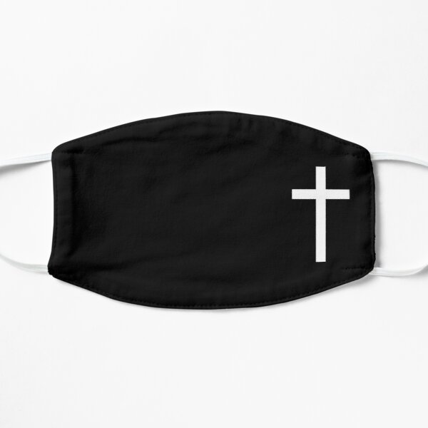 Croix sur noir Masque sans plis