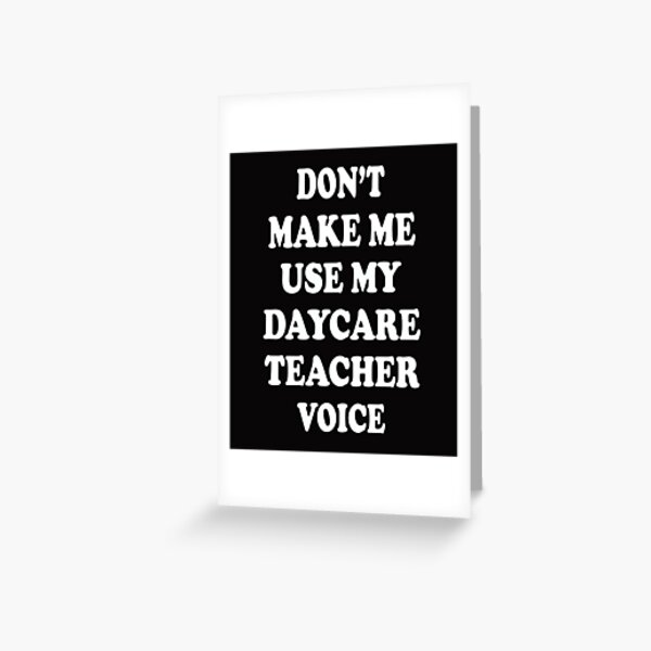 Daycare Teacher Greeting Cards Redbubble
