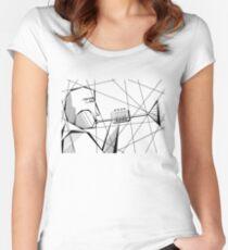 Dizzy Gillespie T_shirt design Women's Fitted Scoop T-Shirt