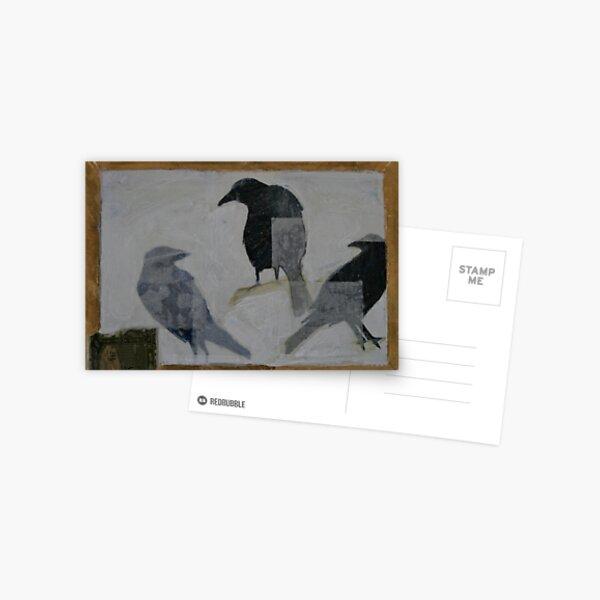 3 CROWS Postcard