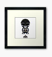 Black Power Ranger Framed Print