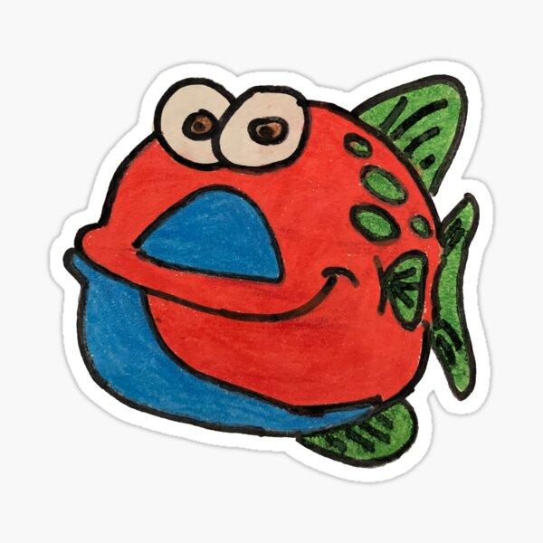 Doug the Fish Sticker