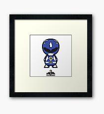 Blue Power Ranger Framed Print